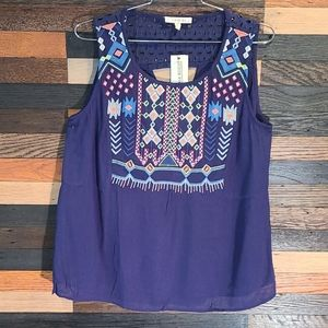 NEW SKIES ARE BLUE SLEEVELESS 💙 TOP SIZE L